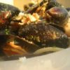 Mussels over Pasta